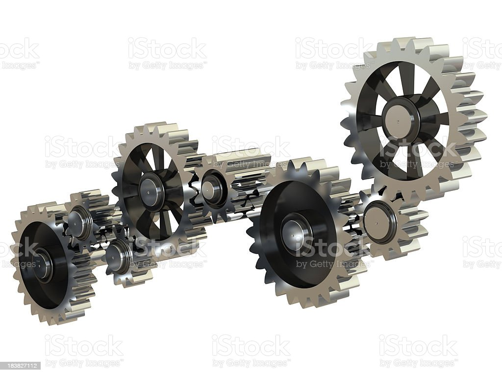 Gearing wheels stock photo