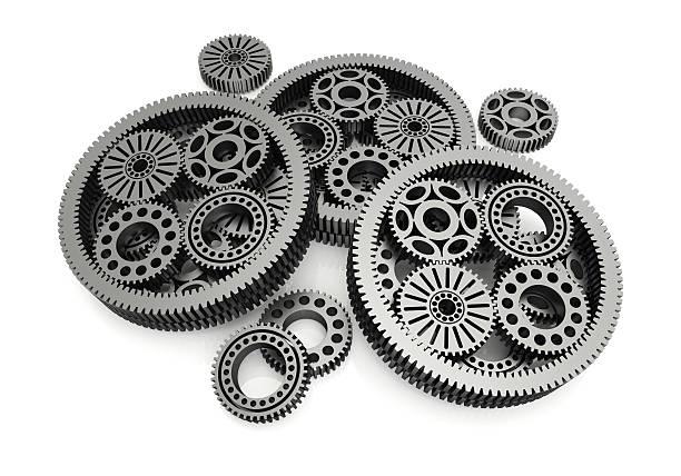 gears aluminium stock photo