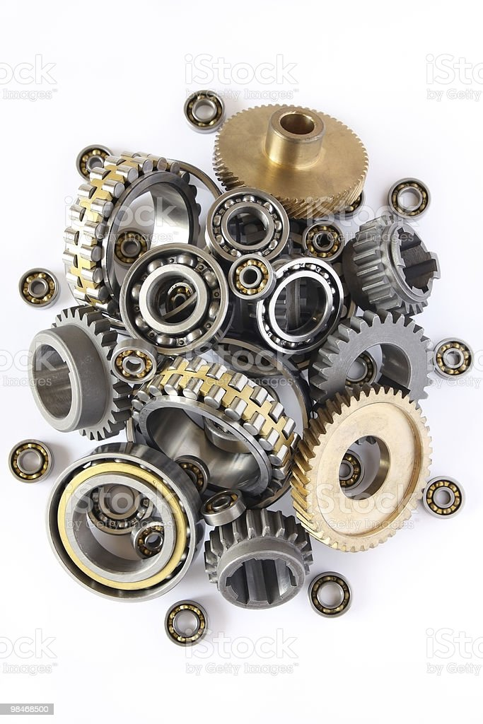 Gears and bearings royalty-free stock photo