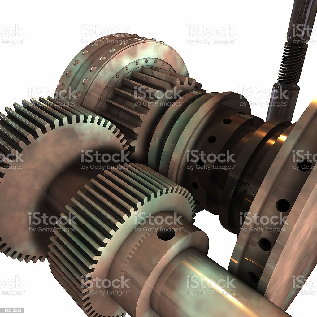 Gears and Cylinders royalty-free stock photo