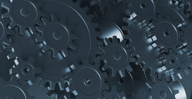Gears background 3d rendering gears, horizontal, background, 3d rendering gearshift stock pictures, royalty-free photos & images