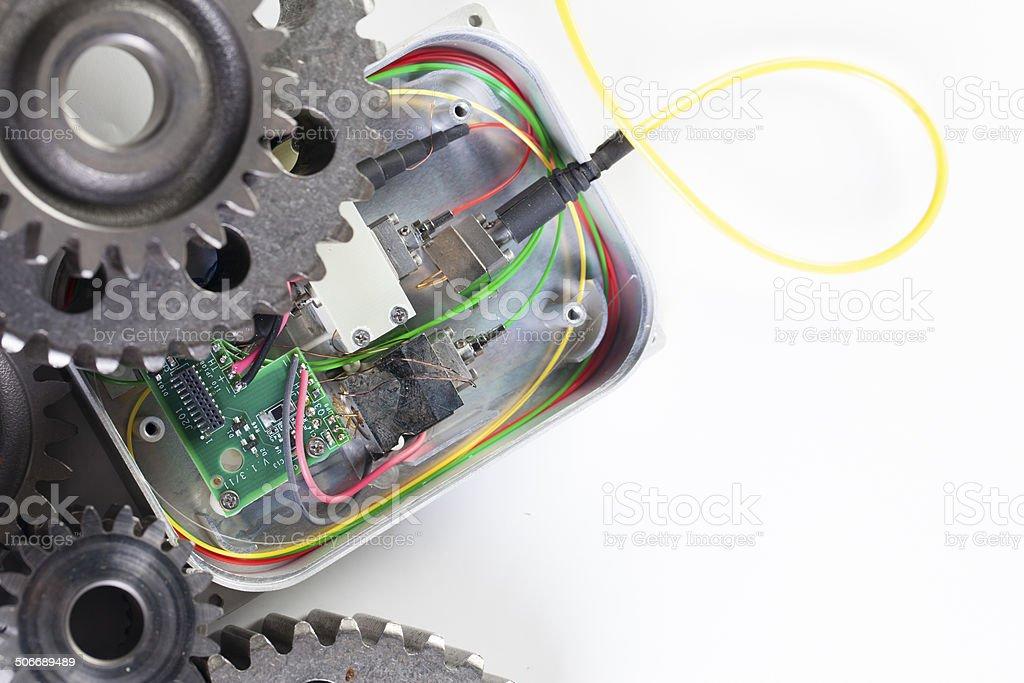 Gears & Circuit Board royalty-free stock photo