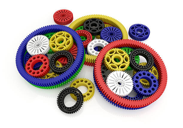 gears colored stock photo