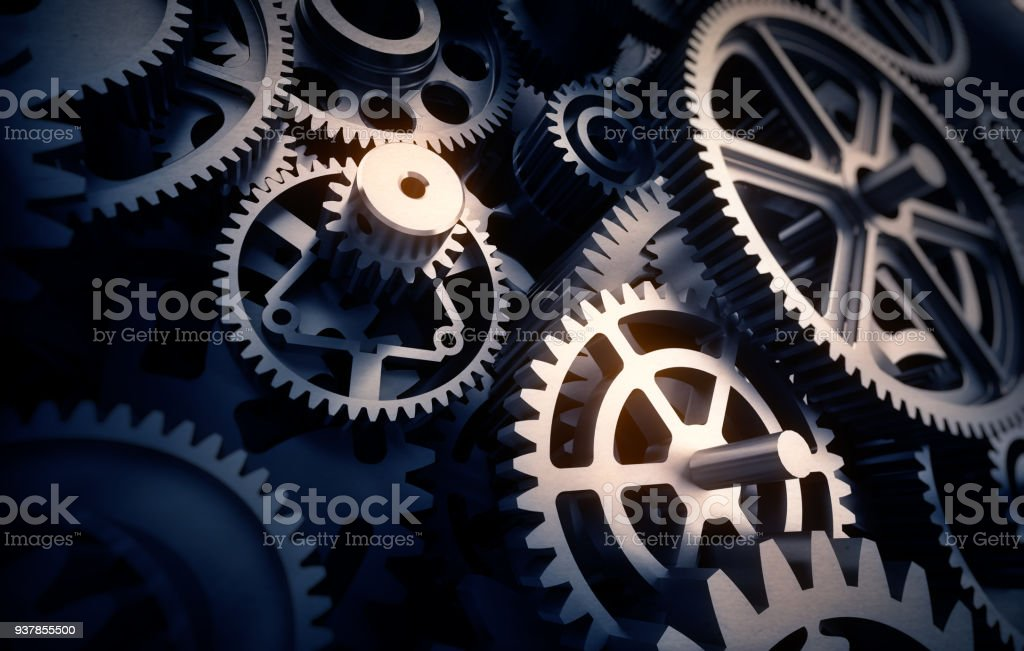 gears detail stock photo