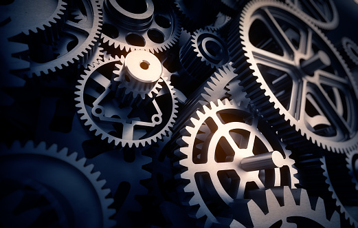 Gears Detail Stock Photo - Download Image Now