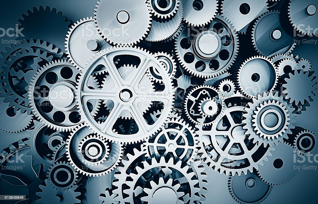 gears drawing background stock photo