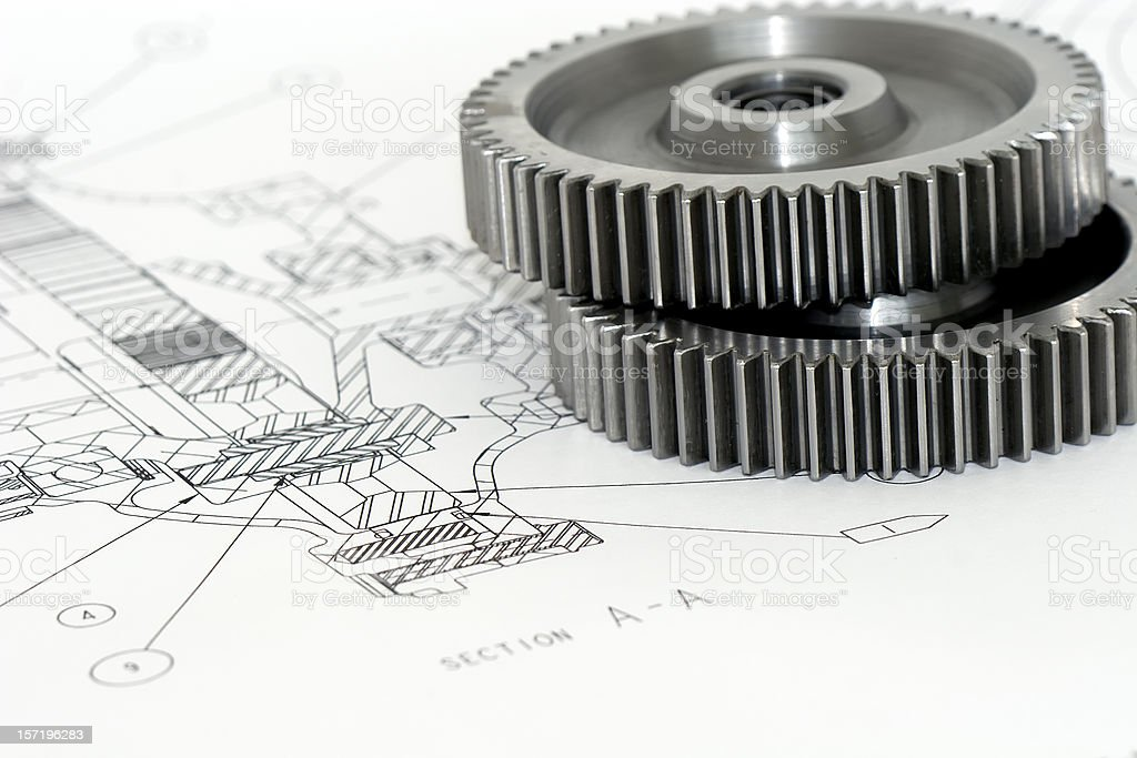 Gears Engineering 6 of 9 royalty-free stock photo