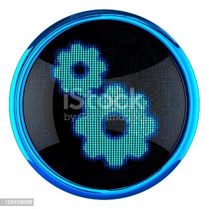 istock Gears icon 153459598