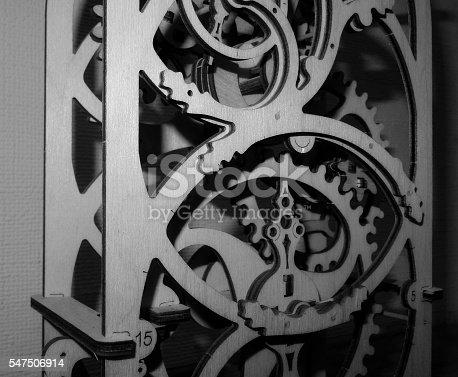 istock Gears in decoration mechanism monochrome stock photo 547506914