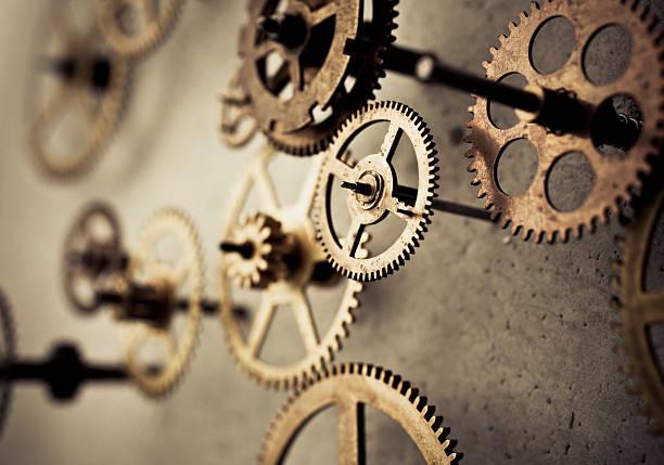 gears in motion - steampunk stockfoto's en -beelden
