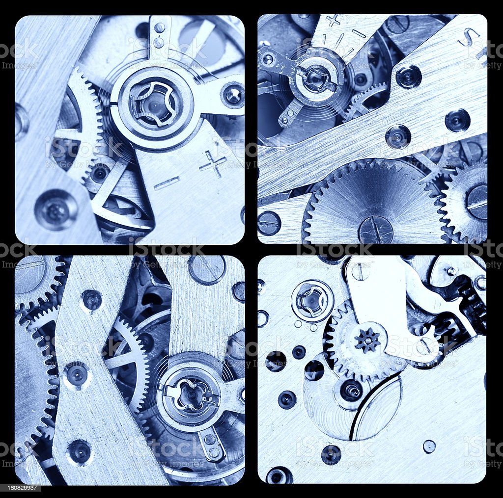 Gears in  Watch royalty-free stock photo