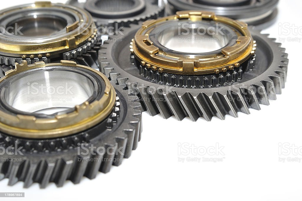 Gears isolated on white background. royalty-free stock photo