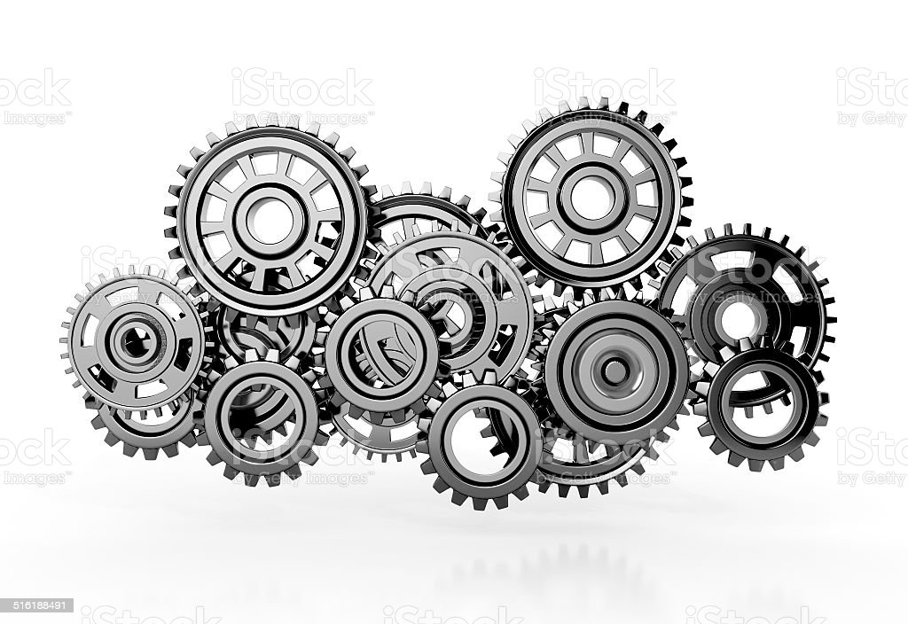 gears isolated on white background. stock photo