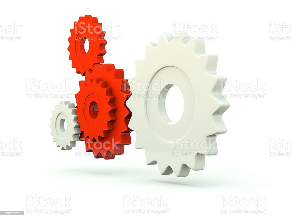 Gears isolated on white stock photo