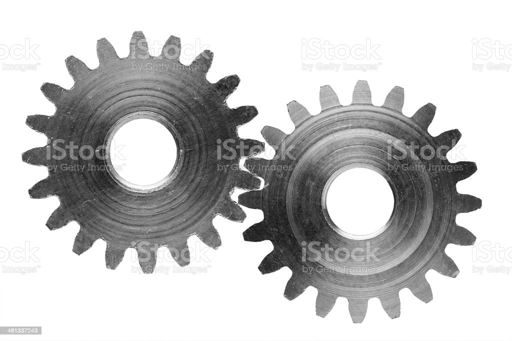 Gears isolated on white (photo) stock photo