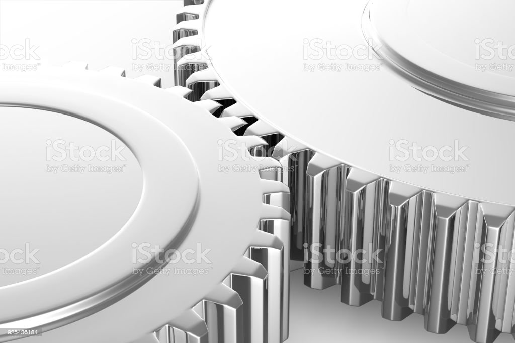 Gears - isolated stock photo
