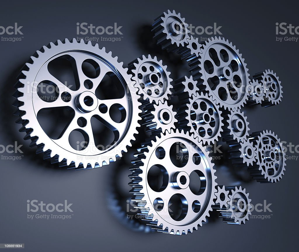 Gears Machine royalty-free stock photo