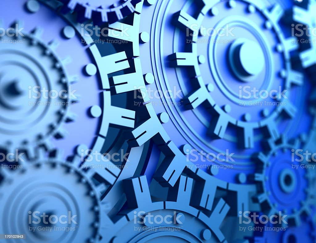 gears made of people stock photo