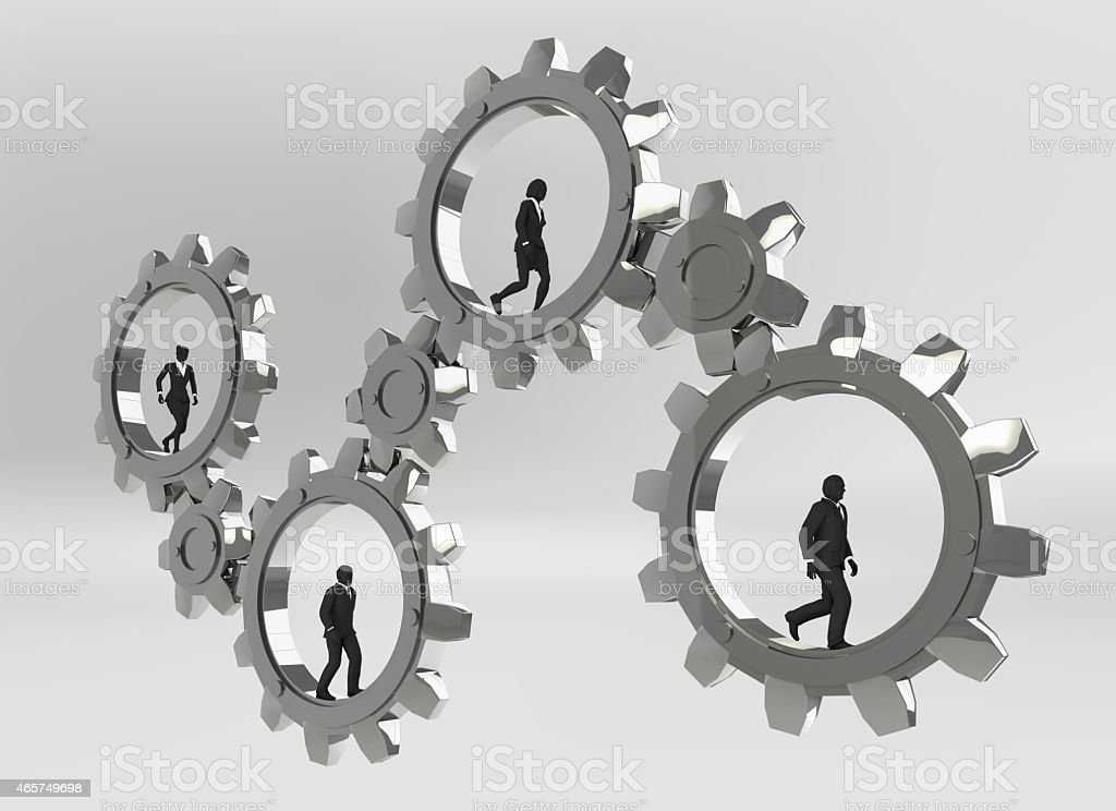 Gears of Teamwork stock photo