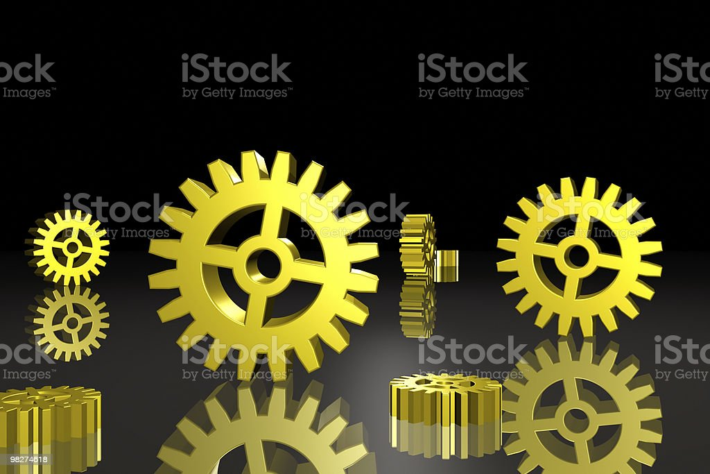 Gears on Black royalty-free stock photo
