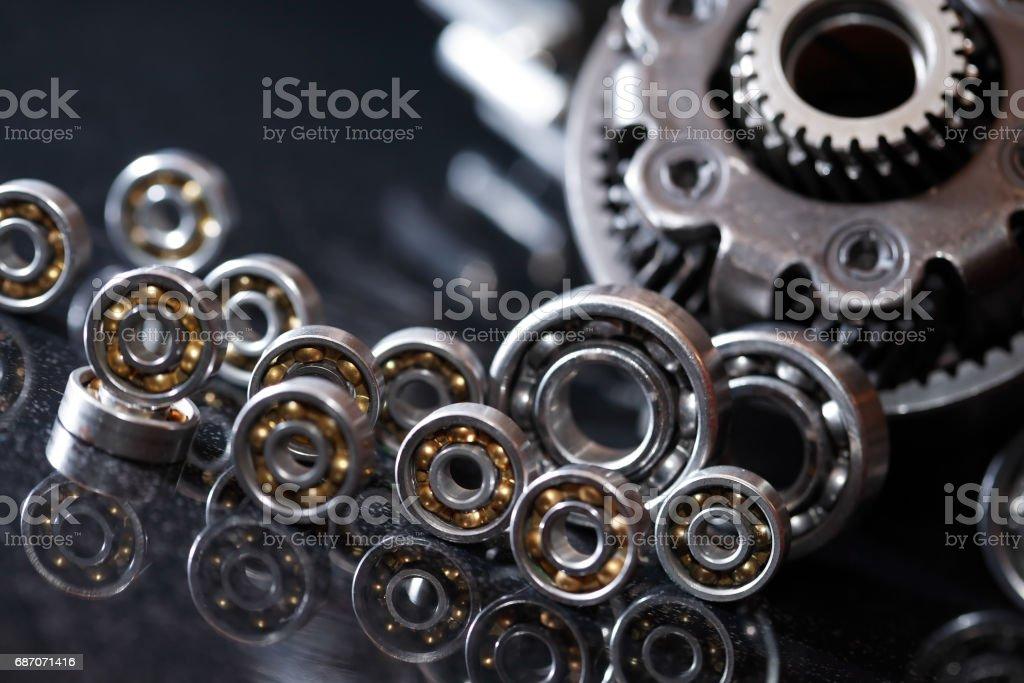 Gears On Dark stock photo