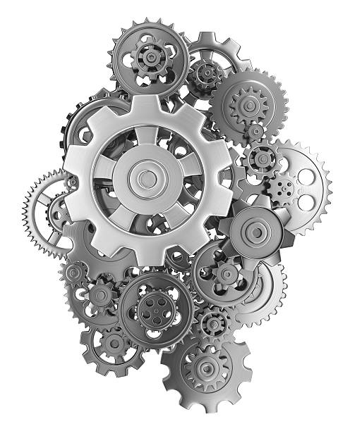 gears 3d render gears. sprocket stock pictures, royalty-free photos & images
