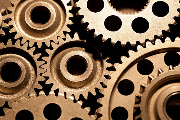 gears - machinery stock photos and pictures