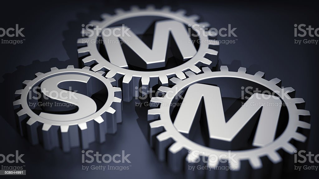 SMM gears stock photo