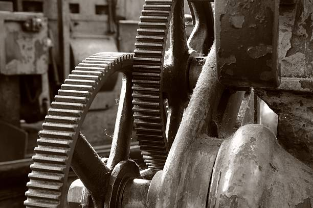 gears - industrial revolution stock pictures, royalty-free photos & images