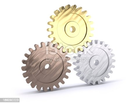 istock Gears poduim 186092223