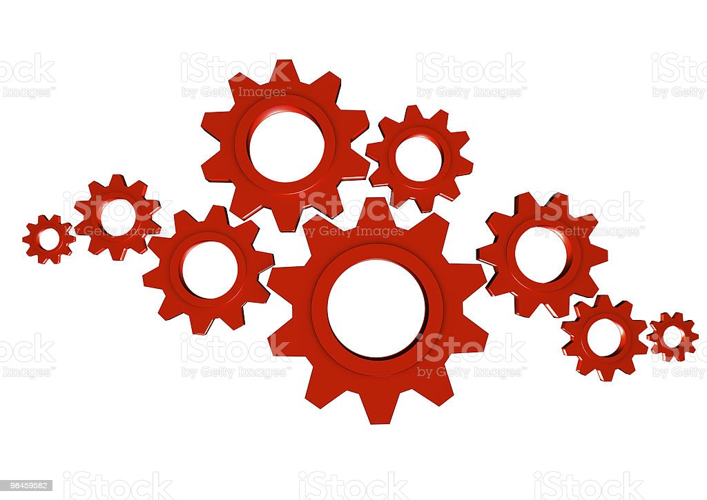 Gears Team Work royalty-free stock photo