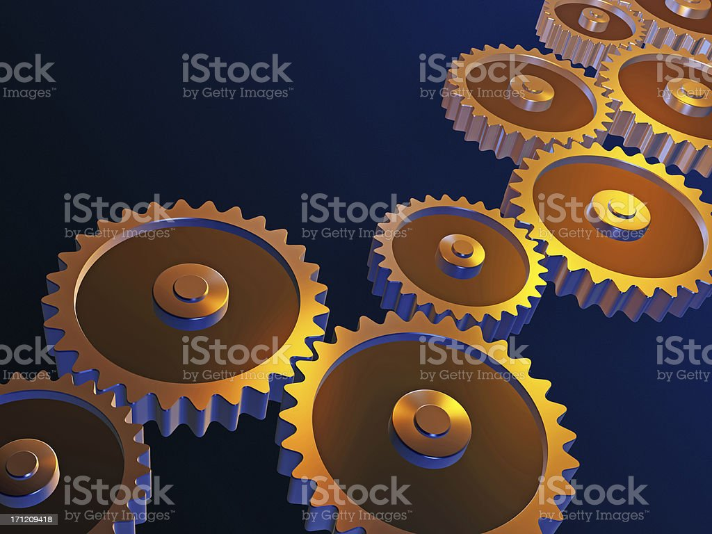 Gears - teamwork royalty-free stock photo