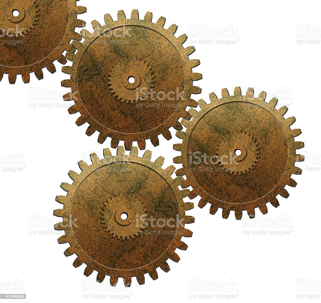 gears used in automotive engine stock photo