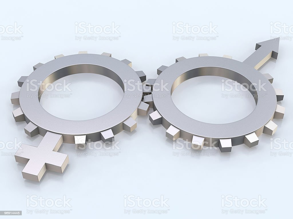 Gears with signs royalty-free stock photo
