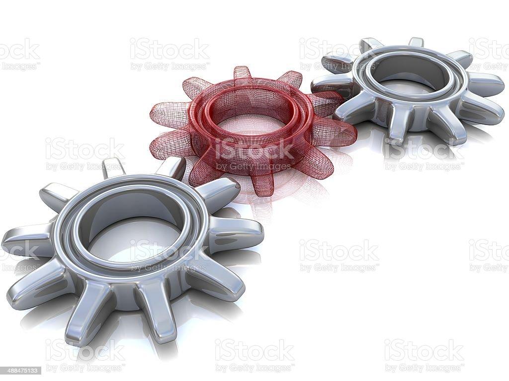 Gears. Work concept. stock photo