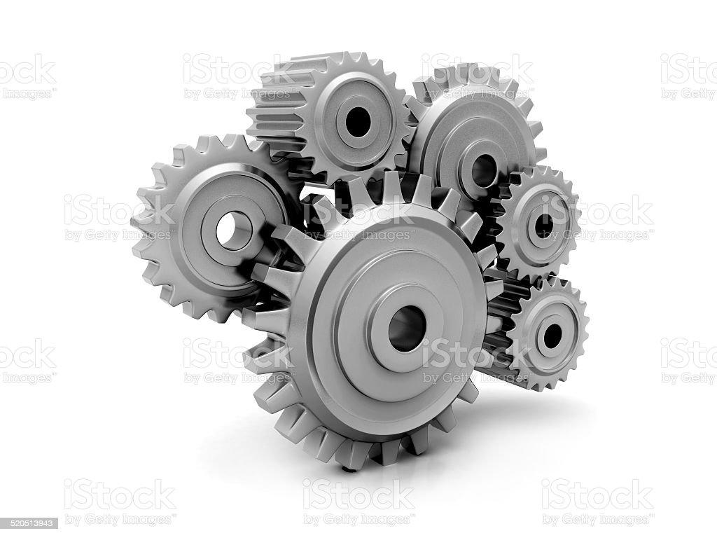 Gears. Work concept stock photo