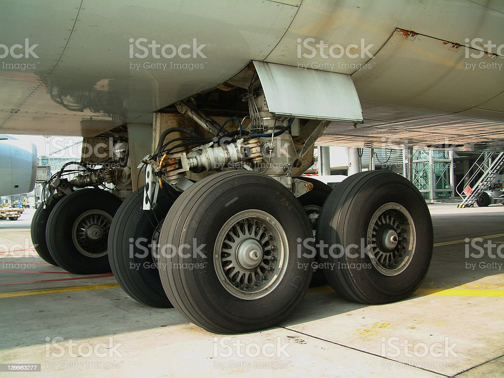 Gearset of a 747 stock photo