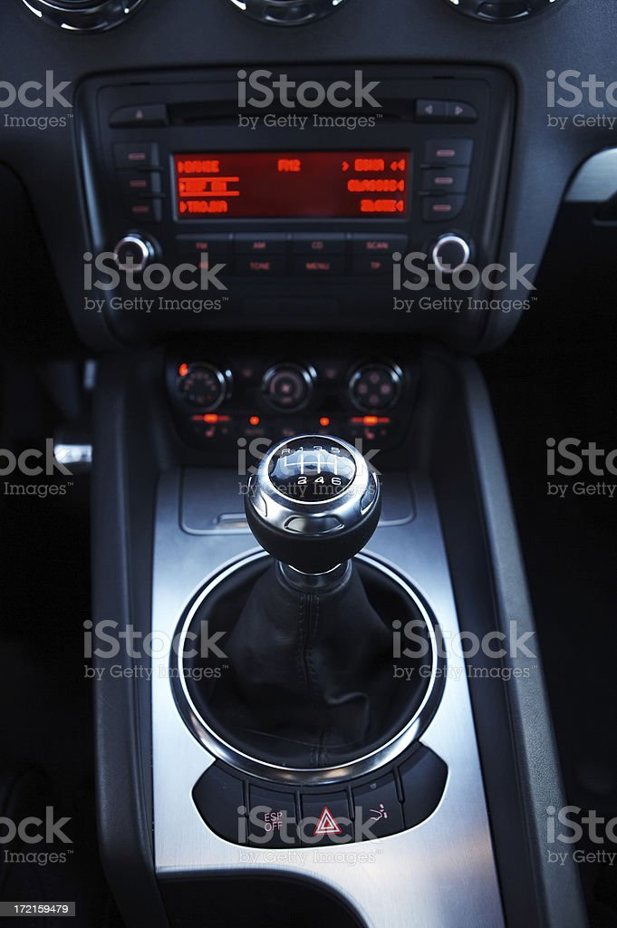 gearshift of the sports car royalty-free stock photo