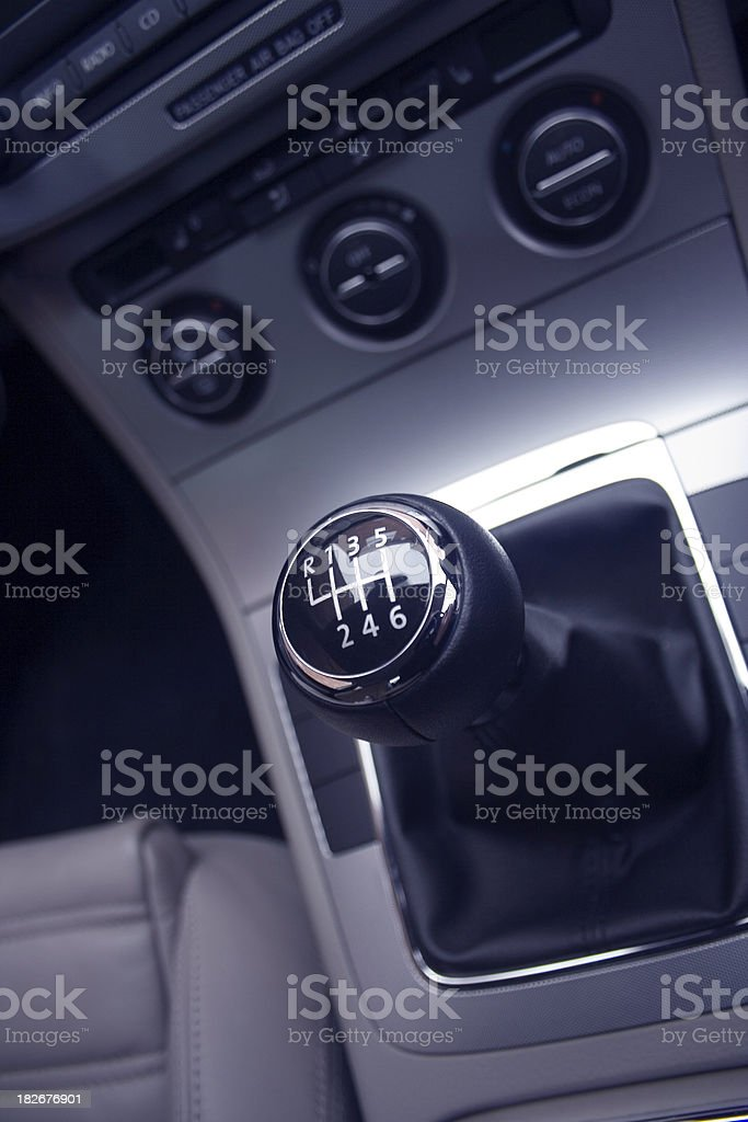 Gearshift Six Speed royalty-free stock photo