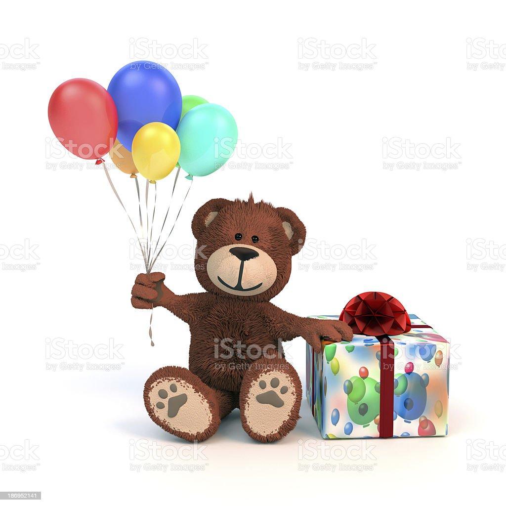 Geburtstags-Teddybär royalty-free stock photo
