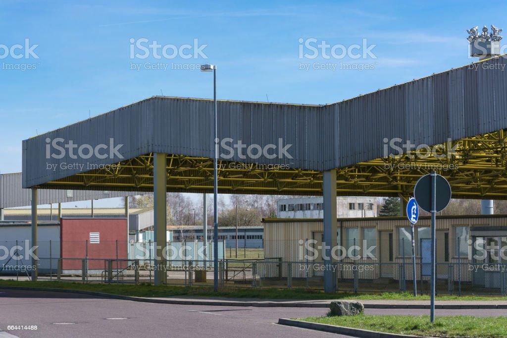 Gedenkstätte, Grenzübergang Helmstedt-Marienborn ehemalige DDR-Grenze in  Deutschland stock photo