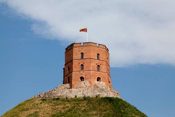 Gediminas' Tower in Vilnius stock photo