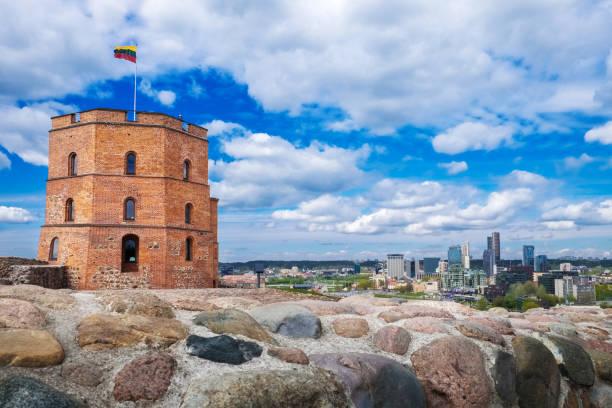 Gediminas Tower, Vilnius, Lithuania. stock photo