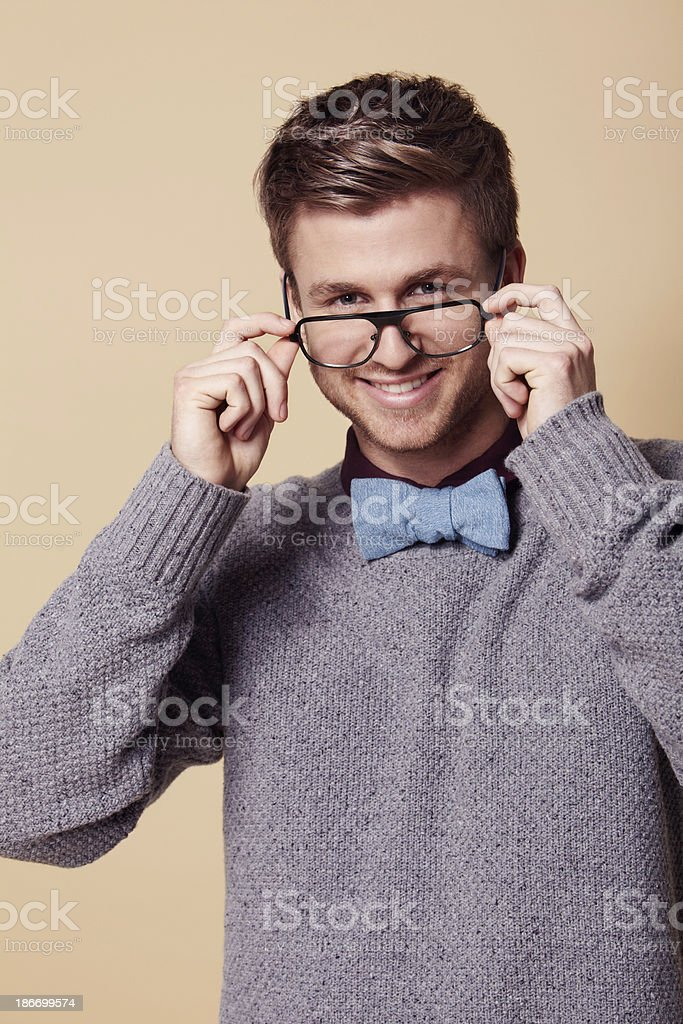 Geek chic! royalty-free stock photo