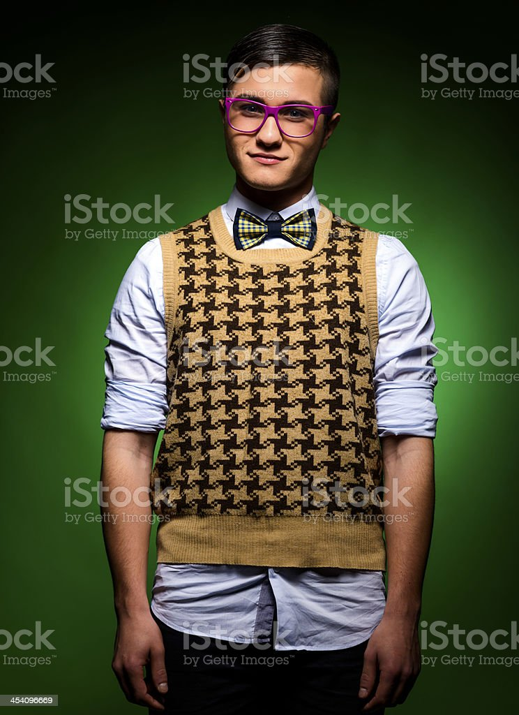 geek portrait stock photo