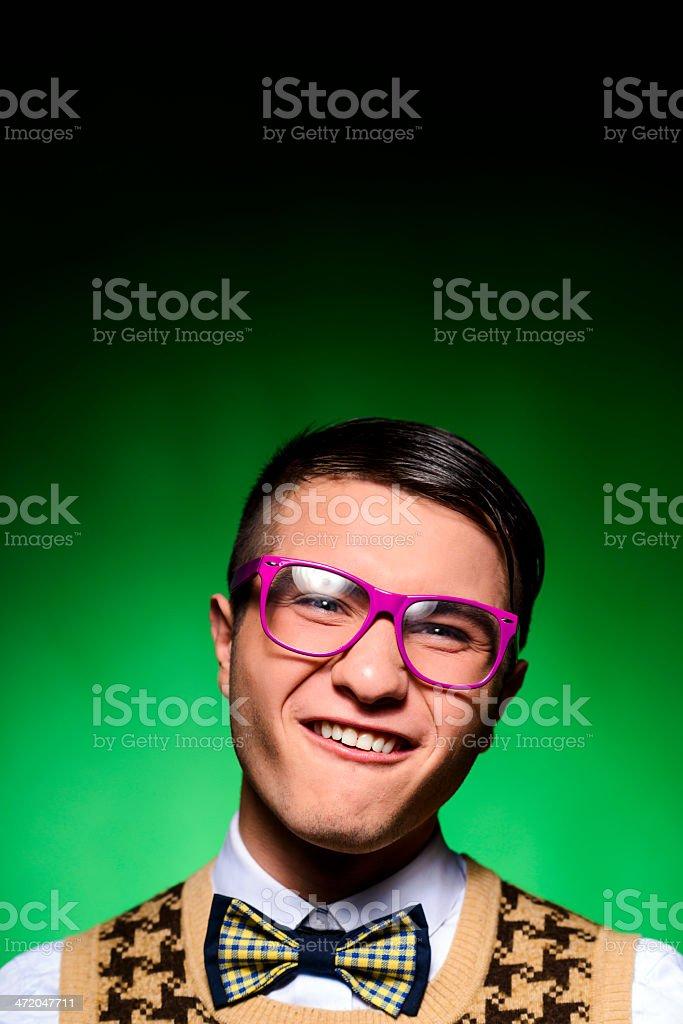 geek portrait royalty-free stock photo
