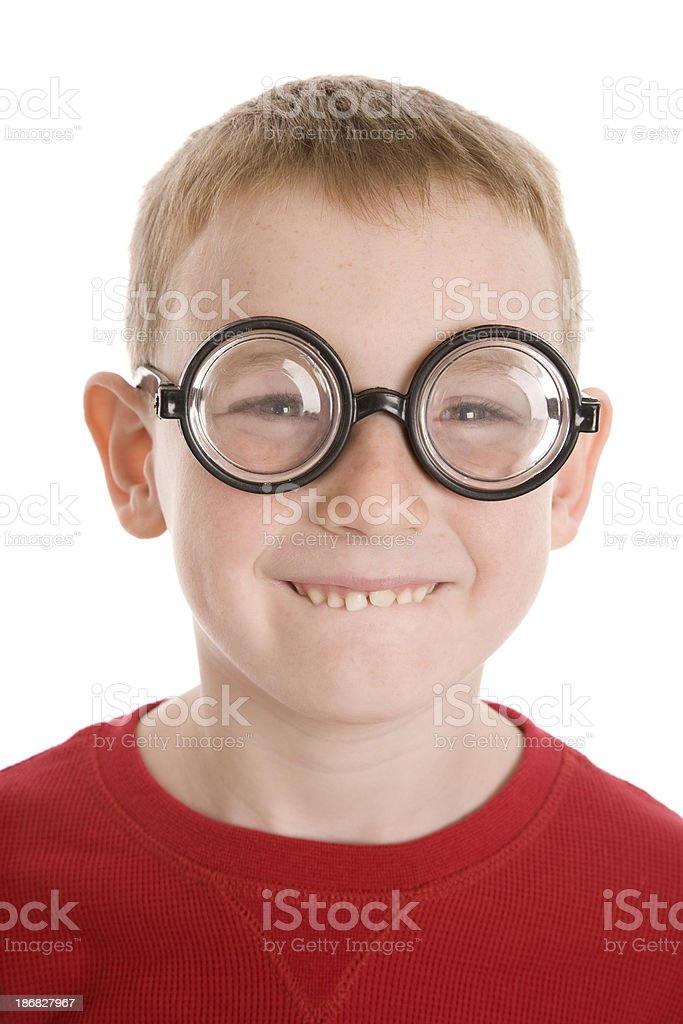 Geeky Child stock photo