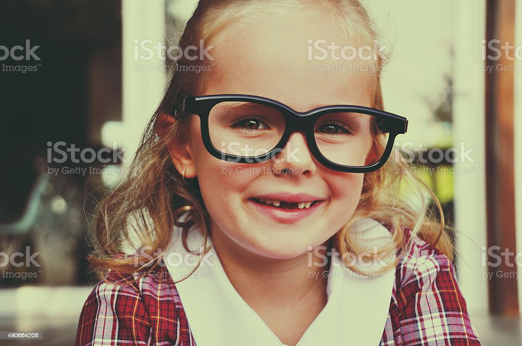 Geeky Girl stock photo