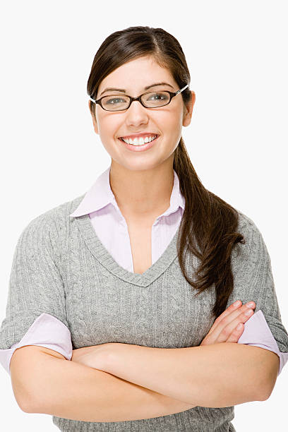 Geeky girl Geeky girl nerd hairstyles for girls stock pictures, royalty-free photos & images