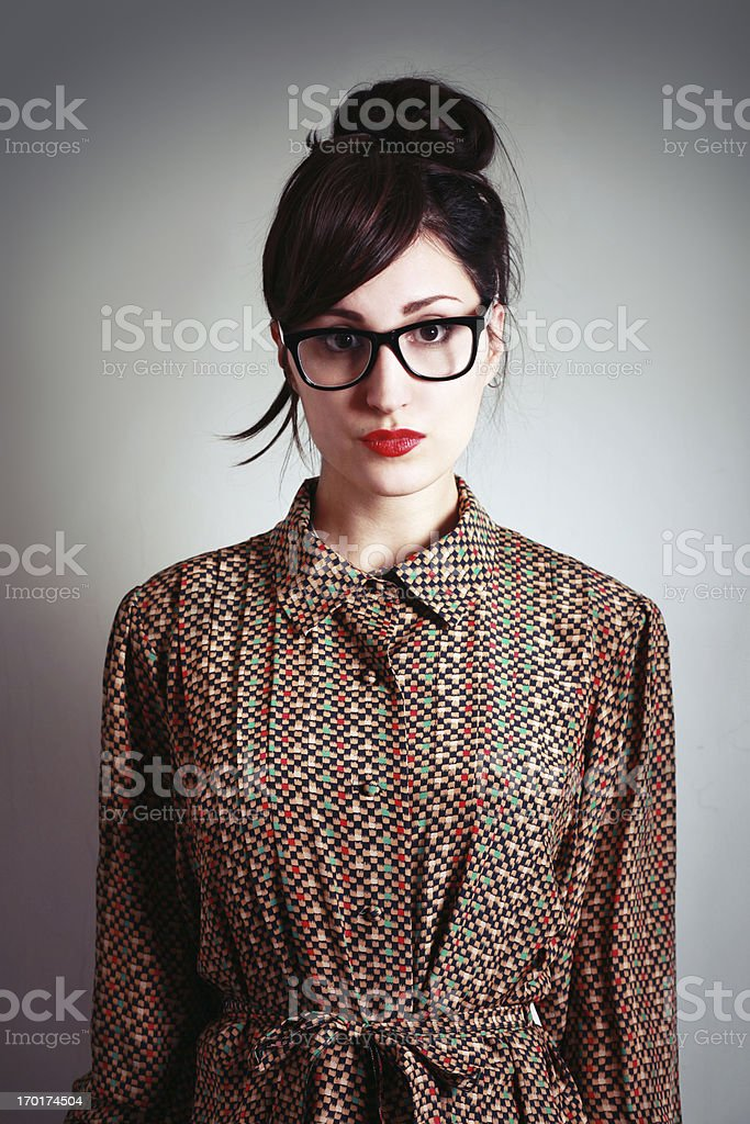 geeky hipster fashion stock photo